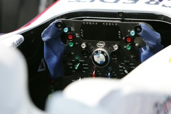 Steering wheel of the BMW