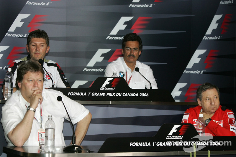 Conférence de presse de la FIA: Norbert Haug, Jean Todt, Nick Fry et Dr. Mario Theissen