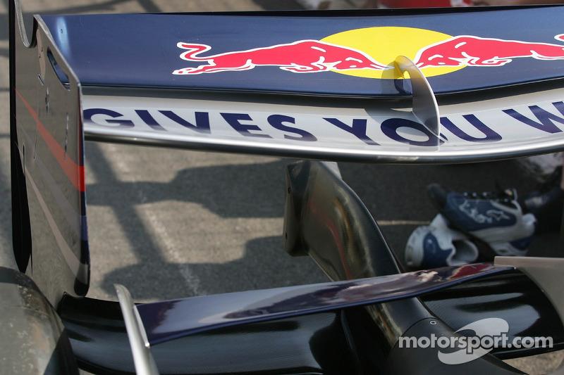 L'aileron arrière de Red Bull Racing
