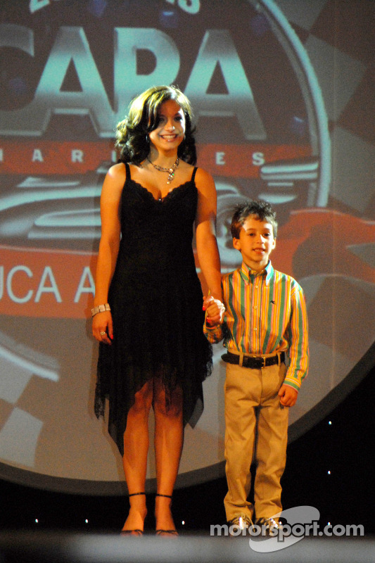 Marissa and Lucca Andretti at