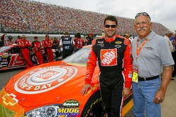 Tony Stewart with his father Nelson Stewart