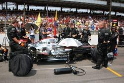 Kimi Raikkonen car on the grid