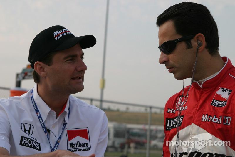 Helio Castroneves et Tim Cindric