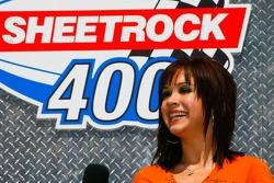 Singer Diana DeGarmo sings the National Anthem