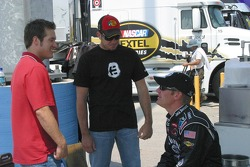 J.J. Yeley, Martin Truex Jr. and Clint Bowyer