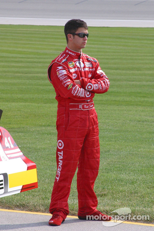 Reed Sorenson watches qualifying