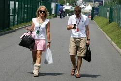 Christijan Albers with his girlfriend Liselore Kooijman