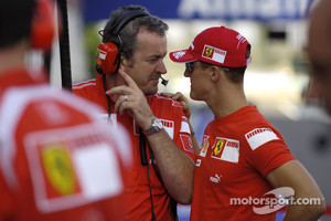 Michael Schumacher and Nigel Stepney