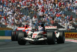 Jenson Button and Felipe Massa