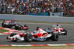 Jarno Trulli, Ralf Schumacher and Kimi Raikkonen