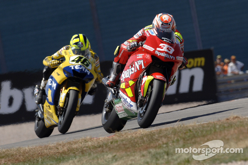 Marco Melandri y Valentino Rossi