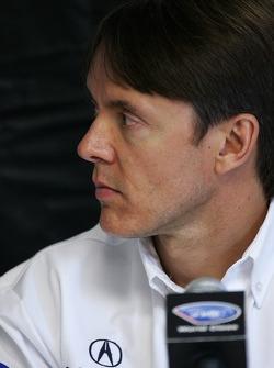Acura press conference: Adrian Fernandez