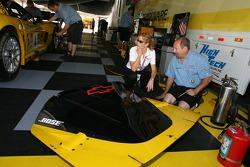 Corvette Racing crew members at work