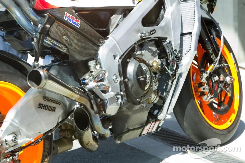 Detalle de la máquina de Honda MotoGP