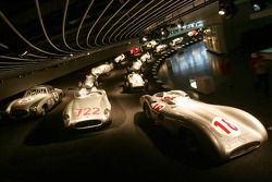 DaimlerChrysler Mercedes media warmup event: historical silver arrows in the Mercedes-Benz museum in Stuttgart
