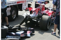 Wrecked Car, Scott Speed