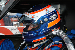 Marc Goossens in the car ready to go