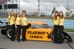 The Playboy girls help add some beauty to the starting grid