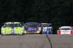 #76 Krohn Racing Ford Riley: Jorg Bergmeister, Colin Braun leads the field