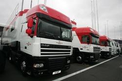 Honda F1 Team transporters