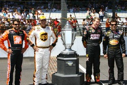 Previous Allstate 400 at the Brickyard winners Tony Stewart, Dale Jarrett, Bill Elliott and Jeff Gordon