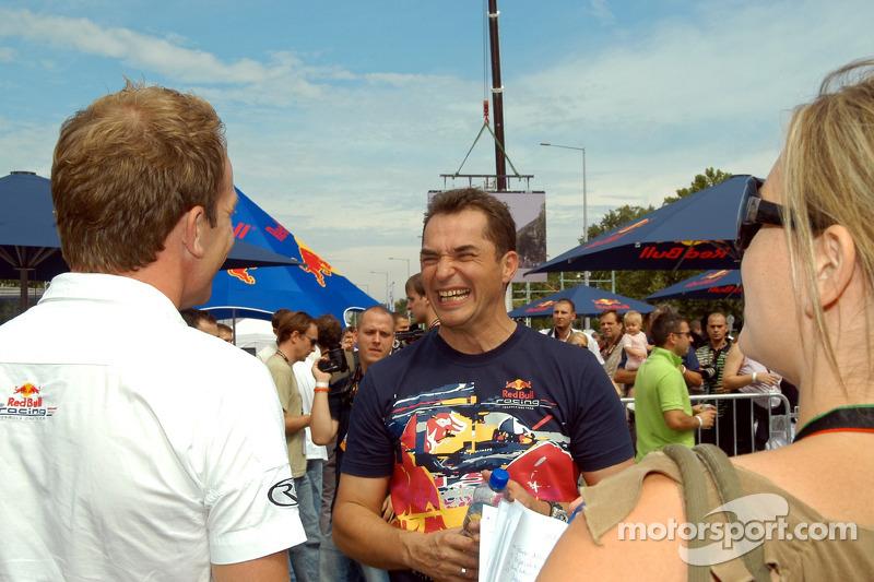 Red Bull Show Run Budapest: Robert Doornbos y Hungaroring Presidente Laszlo Palik