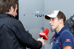 Christian Klien gives an interview to Ernst Hausleitner