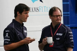 Mark Webber with Frank Durney