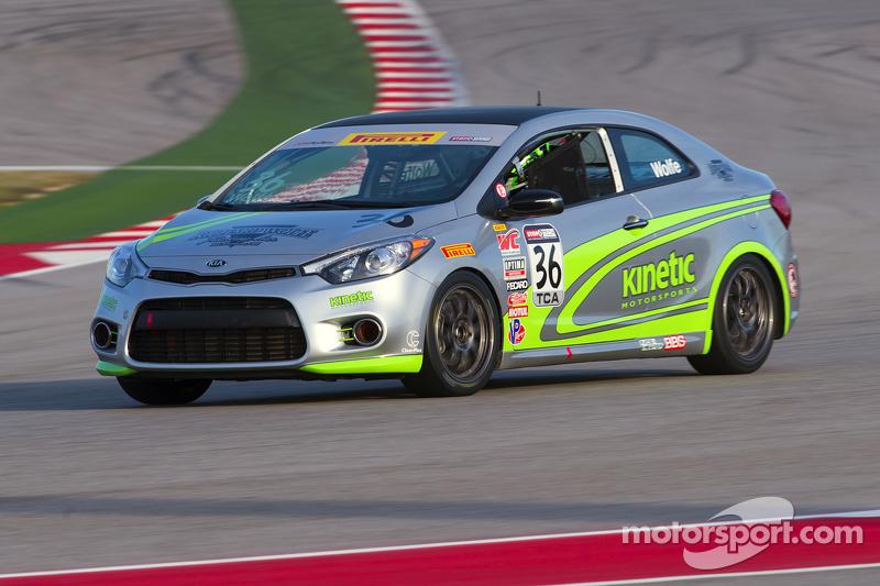 #36 Kinetic Motorsports, Kia Forte Koup: Jason Wolfe