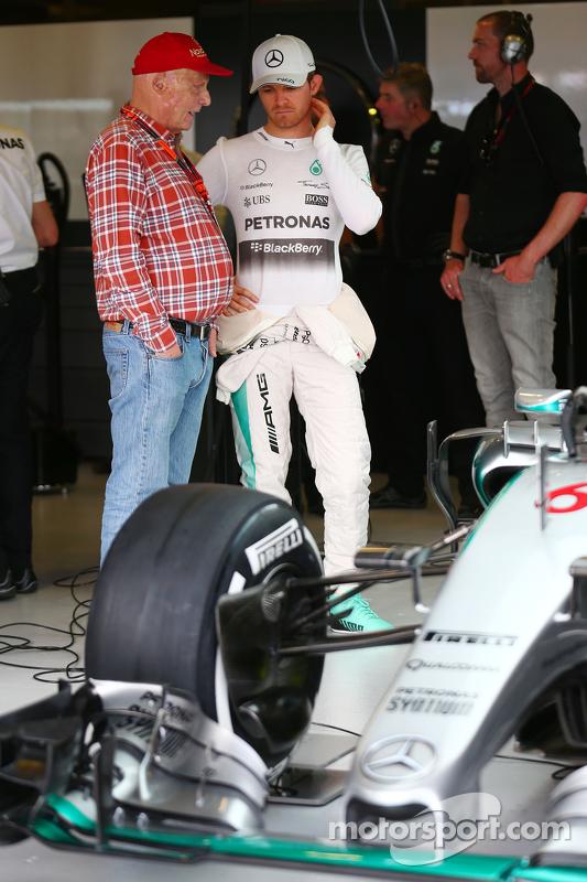 尼基·劳达, 梅赛德斯非执行主席,和尼克·罗斯伯格, 梅赛德斯AMG车队
