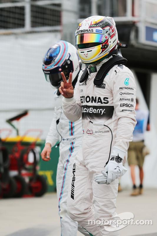 Pole winner Lewis Hamilton, Mercedes AMG F2