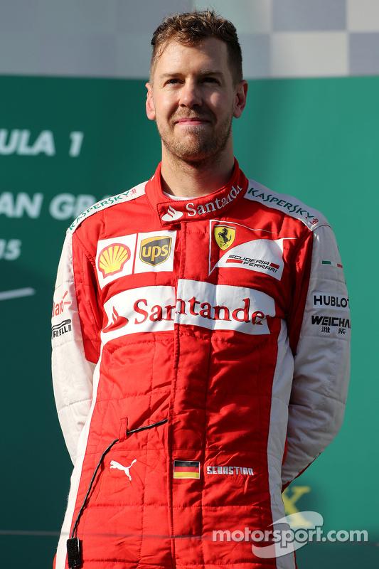 Peringkat ketiga Sebastian Vettel, Scuderia Ferrari