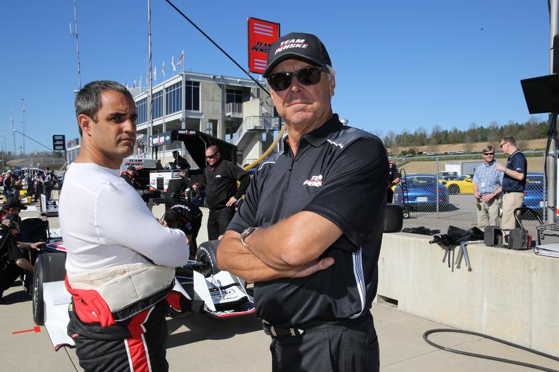 Juan Pablo Montoya, Team Penske, Chevrolet, und Rick Mears