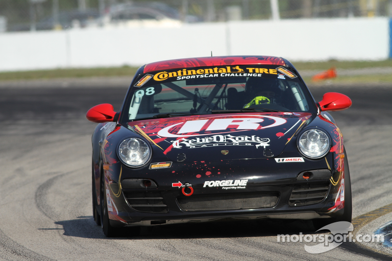 #08 Rebel Rock Racing Porsche 997: Andy Lally, Dylan Murcott