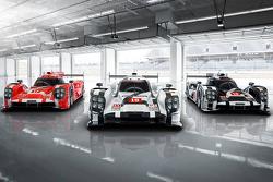 El Porsche 919 Híbrido 2015 en tres colores para Le Mans