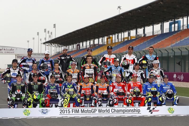 2015 group rider photo at Qatar GP
