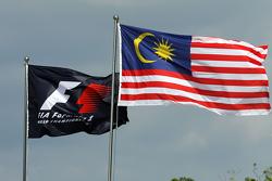 F1和马来西亚的旗帜