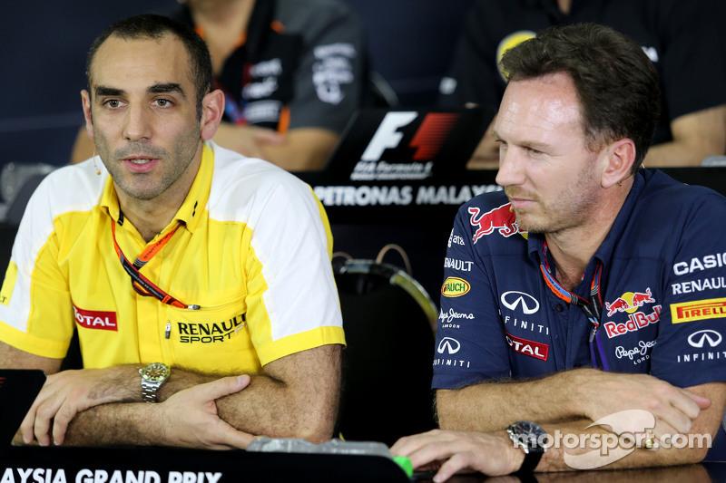Cyril Abiteboul, Renault Sport F1 dan Christian Horner, Red Bull Racing, Sporting Director