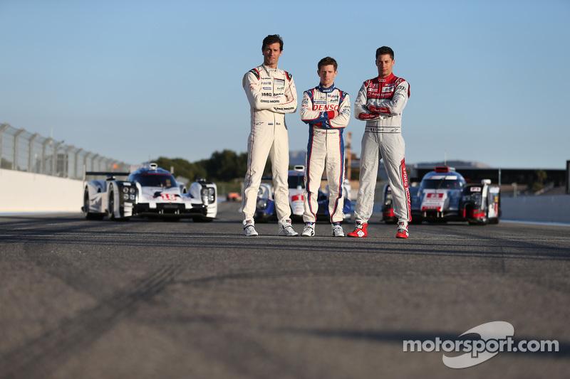 Марк Веббер, Porsche Team, Ентоні Девідсон, Toyota Racing, Лоік Дюваль, Audi Sport Team Joest