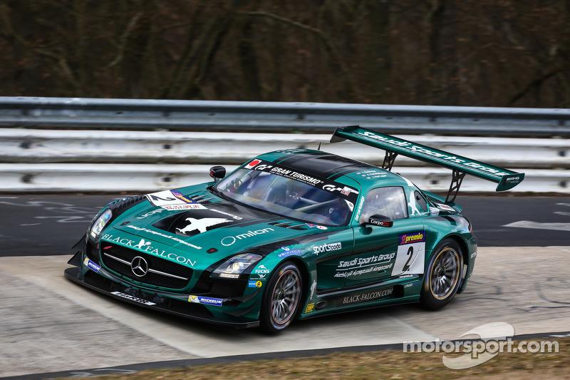 #2 Black Falcon, Mercedes-Benz SLS AMG GT3: Yelmer Buurman, Adam Christodoulou, Jaap van Lagen