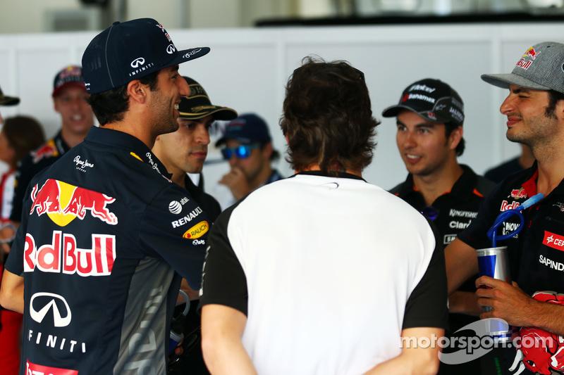 Daniel Ricciardo, Red Bull Racing, bei der Fahrerparade