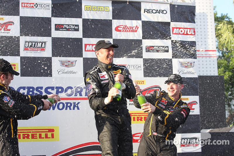 Podium: 3. Andrew Aquilante, 1. Spencer Pumpelly, 3. Kurt Rezzetano