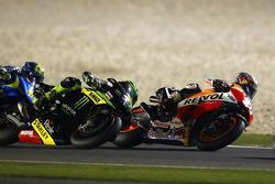 Dani Pedrosa, Repsol Honda Team y Pol Espargargo, Monster Tech 3 Yamaha y Aleix Espargaro Team Suzuki MotoGP