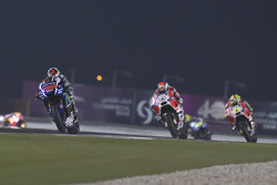 Jorge Lorenzo, Yamaha Factory Racing and Andrea Dovizioso and Andrea Iannone, Ducati Team