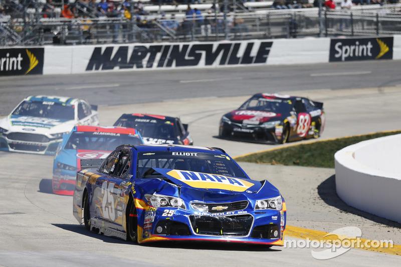 Problemas para Chase Elliott, Hendrick Motorsports Chevrolet