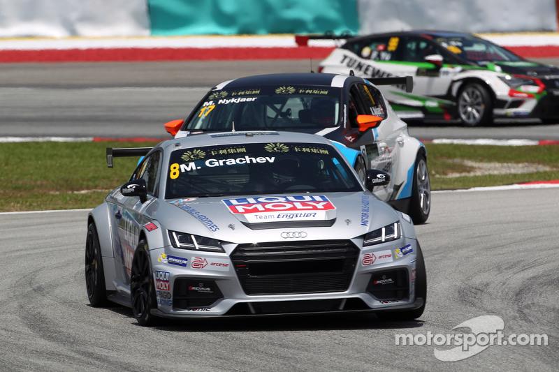 Mikhail Grachev, Audi TT, Liqui Moly Team Engstler, und Michel Nykjaer, SEAT Leon Racer, Target Competition