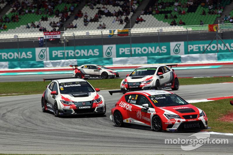 Pepe Oriola, SEAT Leon Racer, Craft Bamboo Racing LUKOIL, dan Gianni Morbidelli, Honda Civic TCR, We