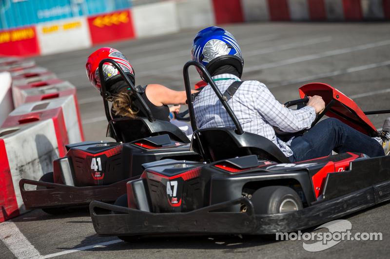 Evento de Karting con pilotos de Fórmula E