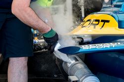 Охлаждение машины в боксе
