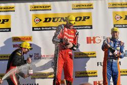 Race 3 Podium 1st Matt Neal, 2nd Jack Goff, 3rd Aron Smith